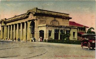 Panama City, Panama railroad station, automobile
