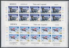 1997 Europa CEPT mítoszok és legendák sor 2 értéke 10-es kisívekben Mi 784-785
