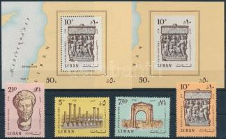 1968 Tyros-i ásatások sor Mi 1045-1048 + fogazott és vágott blokk 37 A + B