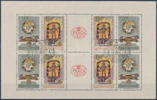 Prague Stamp Exhibition minisheet, Prágai bélyegkiállítás kisív