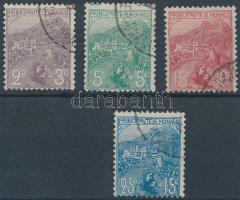 1919 Mi 27-30 (28 elfogazva, a tervező neve alul és felül)