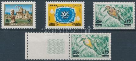 1972 Mi 1148-1150 + 1150 ívszéli üresmezős bélyeg barna színnyomat nélkül / 1150 brown colour print omitted