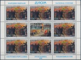 1998 Europa CEPT nemzeti ünnepek és fesztiválok kisívsor 2 stecklapon Mi 2855-2856