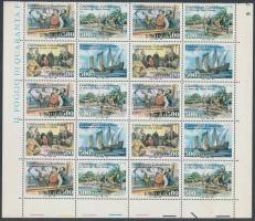 1992 Amerika felfedezésének 500. évfordulója (III) sor ívsarki 20-as tömbben Mi 2208-2211