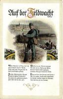 Auf der Feldwacht / On the field watch, WWI K.u.K. military poem, Lepochrom 1888., I. világháborús K.u.K. katonai vers, Lepochrom 1888.