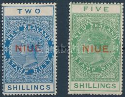 1918 Stempelmarken Mi 1 + 3