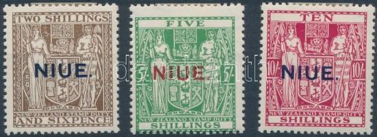 1931 Stempelmarken Mi 7-9