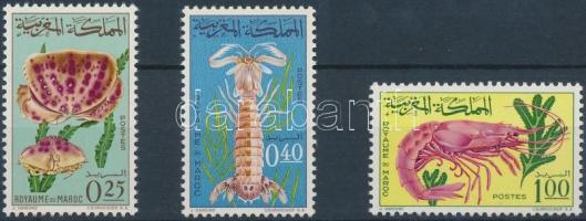 1965 Rákok; Állat sor Mi 553-555