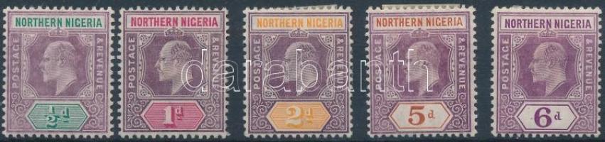 Észak-Nigéria 1904 Forgalmi értékek Mi 19-21, 23, 24 c