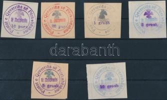 1913 Hivatalos bélyeg sor Mi 18-23