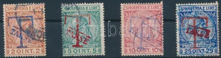 Postage due overprinted set without closing value, Portó sor felülnyomással záróérték nélkül