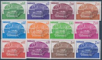 1978-1979 Forgalmi: kongresszuscentrum 3 klf sor Mi 1321-1324 + 1359-1362 + 1380-1383