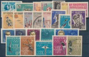 1958-1963 25 db bélyeg, közte teljes sorok