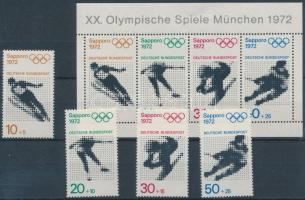 1971 Olimpiai játékok sor Mi 680-683 + blokk 6