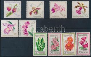 1966-1968 Nemzetközi kertészeti kiállítás + Orchideák sor Mi 1189-1192, 1420-1425