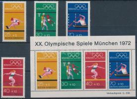 1972 Nyári olimpiai játékok sor Mi 734-737 + blokk 8