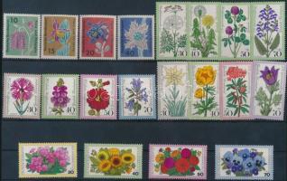 1963-1977 Virágok motívum 5 db sor