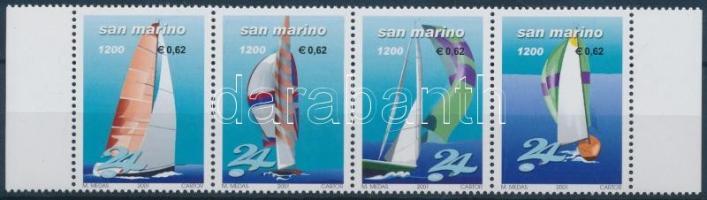 Sailing margin stripe of 4, Vitorlázás ívszéli négyescsík