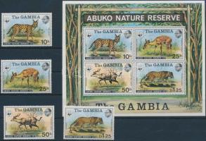 1976 WWF: Abuko Természetvédelmi Terület sor Mi 332-335 + blokk 2