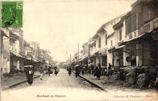 Hanoi, Marchands de Chapeux / hat vendors