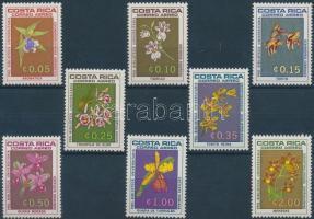 1969 Egyetemi Könyvtár: Virág, orchidea sor Mi 711-718