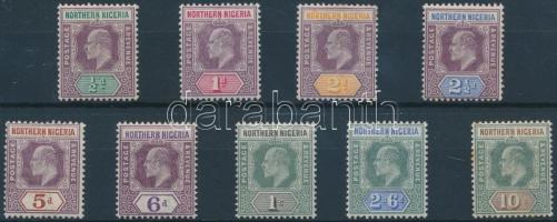 Észak-Nigéria 1902 VII. Edward sor Mi 10-18 (Mi 17 betapadt, Mi 18 rozsdás)