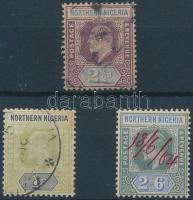 Észak-Nigéria 1902 Mi 13 + 16-17 (Mi 17 kézzel érvénytelenített)
