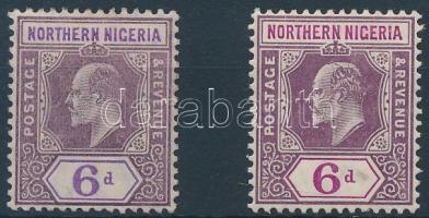 Észak-Nigéria 1904 Mi 24a + 24b