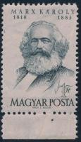 1953 Marx B ívszéli bélyeg papírránccal