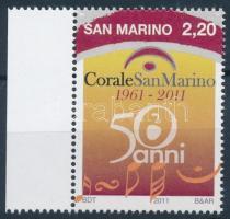 50th  anniversary of choir of San Marino margin stamp, 50 éves a san marinói kórus ívszéli bélyeg