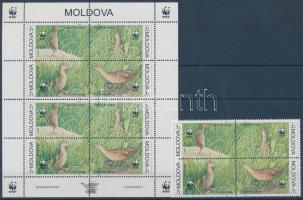 2001 WWF haris négyestömb + kisív Mi 379-382