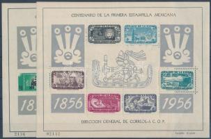 1956 100 éves a bélyeg fogazott + vágott bélyeg Mi 1-2