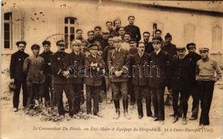 Le commandant du plessis. son État-Major et Équipage du Dirigeable L. 72 á Cuers-Pierrefeu / French crew of airship L72 at Cuers-Pierrefeu, L72 léghajó francia legénysége a Cuers-Pierrefeu-nál