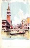 Venice, Venezia; Piazzetta della Laguna, litho (EK)