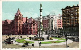 Buffalo, Lafayette Square, automobiles