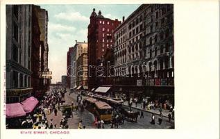 Chicago, State street, tram, Boston store