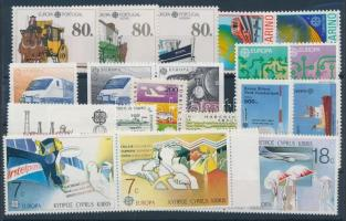 1988 Europa CEPT motívum 83 klf bélyeg + 4 klf blokk 6 stecklapon