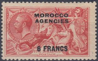 Brit posta Marokkóban 1932 Forgalmi: V. György király felülnyomott bélyeg Mi 219