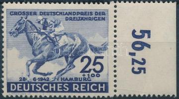 1942 Német Derby Mi 814 ívszéli