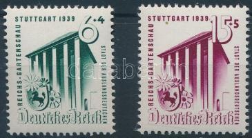 1939 Kertészeti kiállítás sor Mi 692-693