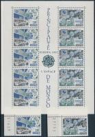 1991 Europa CEPT, Űrkutatás ívsarki sor Mi 2009-2010 + blokk 50