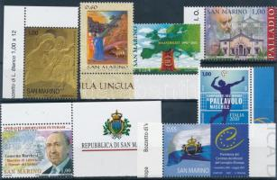 2002-2010 7 margin stamps with diff. motives, 2002-2010 7 klf témájú ívszéli bélyeg