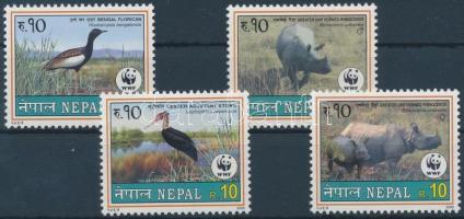 2000 WWF ritka állatfajták sor Mi 718-721