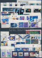 1991 Europa CEPT, Űrkutatás 26 db ívszéli sor, közte szelvényes bélyegek, 2 db stecklapon