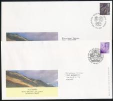Skócia 2000-2005 Forgalmi bélyeg Mi 82 + 89 2 FDC-n