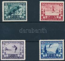 1933 Síelés sor Mi 551-554 (Mi 551 gumi hiba)