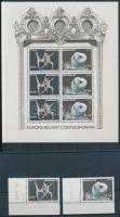1993 Europa CEPT, Kortárs művészet sor Mi 2120-2121 A + blokk 59