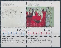 Europa CEPT, Kortárs művészet ívszéli pár, Europa CEPT, Contemporary art margin pair