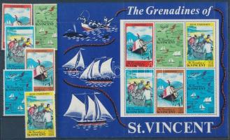 Grenadines set + block, Grenadine-szigetek sor + blokk