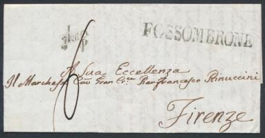 1844 Portós levél FOSSOMBRONE - FIRENZE
